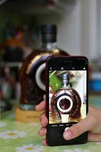 сфотографировать бутылку